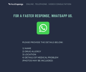 whatsapp us the details of your condition