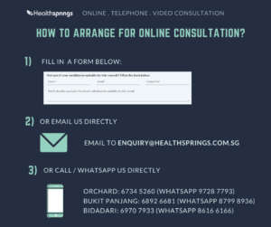 how to arrange for online consultation